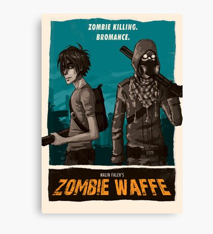 Zombie Waffe Poster Canvas Print