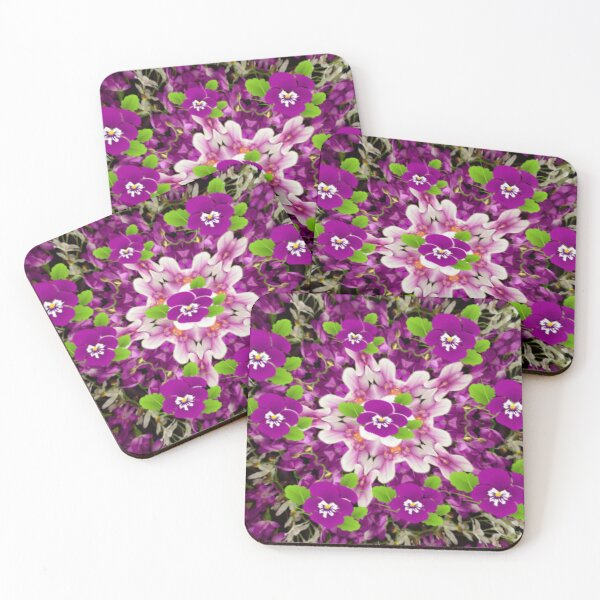 Pansy Garden Delight Coasters (Set of 4)