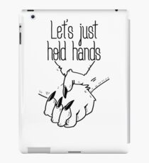 hold hands (asexual pride) iPad Case/Skin