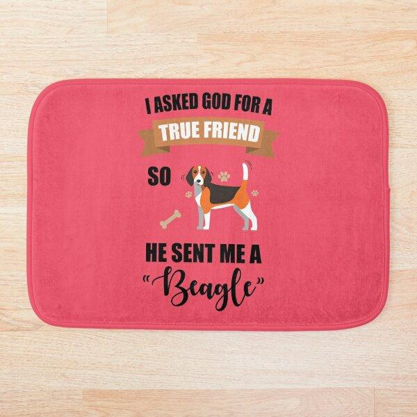 Beagle Mom & Dad Gifts Bath Mat