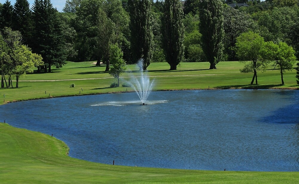 Fountain at a Golf Course by rhamm