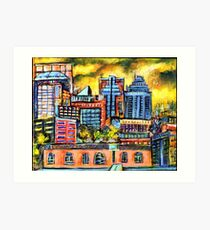 Montreal roofs Art Print