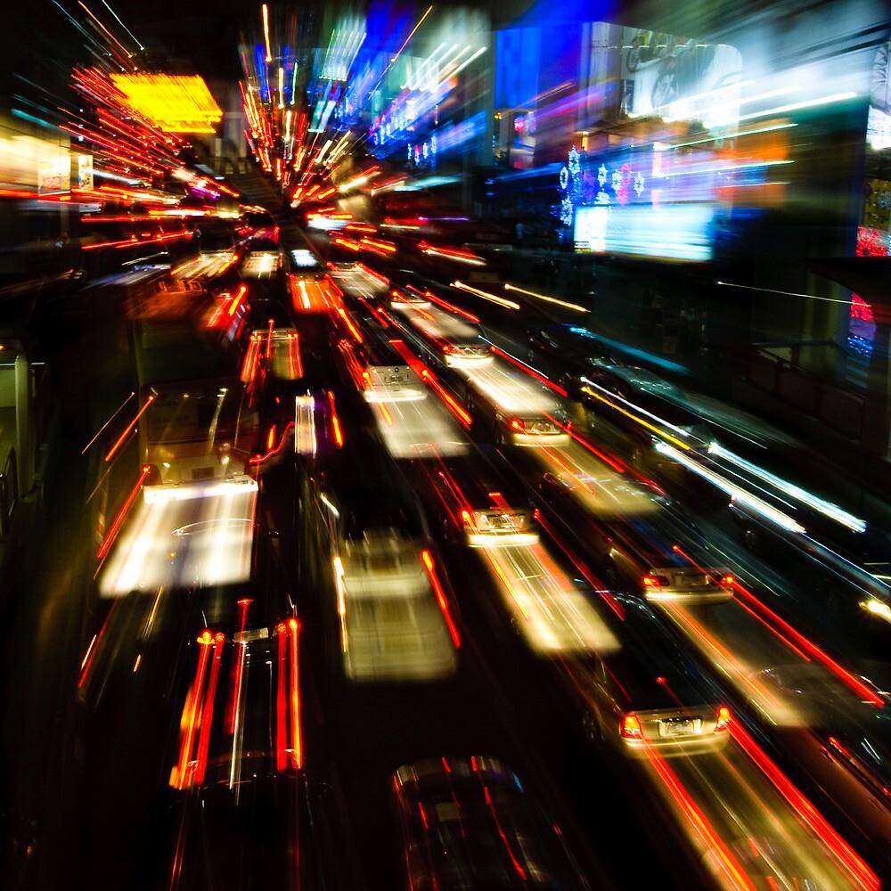 Traffic lights in motion blur by javarman