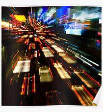 Traffic lights in motion blur Poster