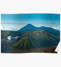 Bromo volcano at sunrise, Java, Indonesia Poster