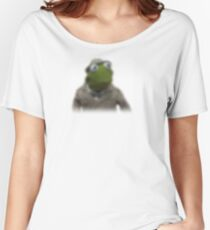 Blurred kermit reporter Women's Relaxed Fit T-Shirt