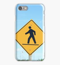 Crosswalk Sign iPhone Case/Skin