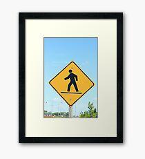 Crosswalk Sign Framed Print