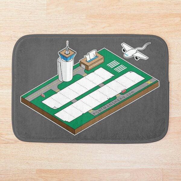 Paper Towel Airport Bath Mat
