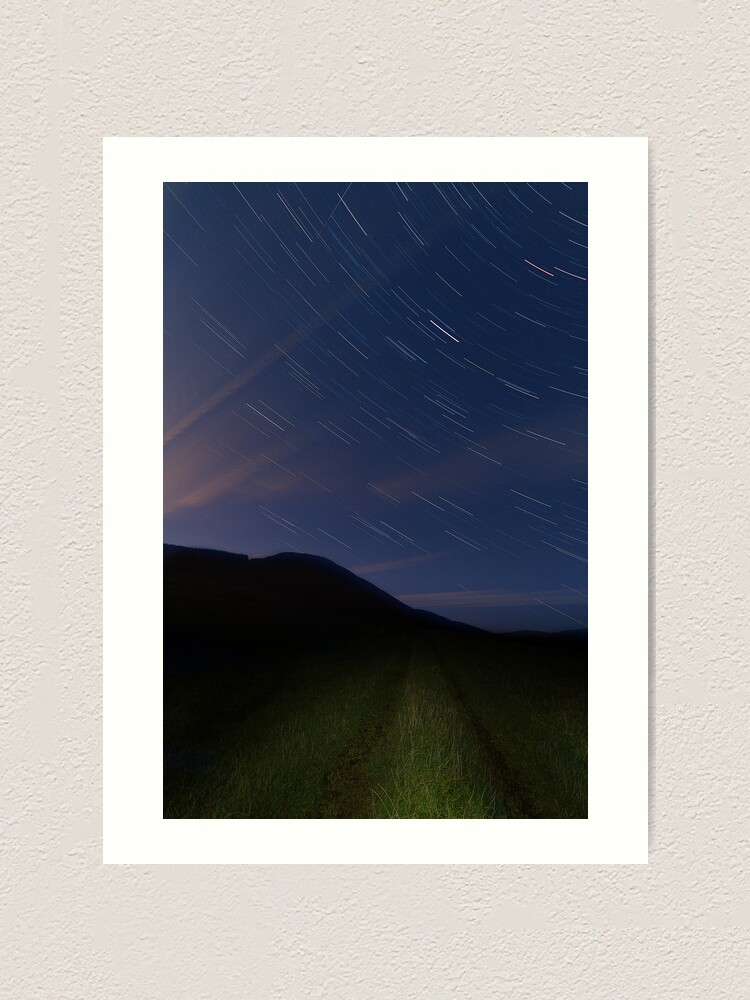 Alternate view of Campsie Star Trails (2) Art Print