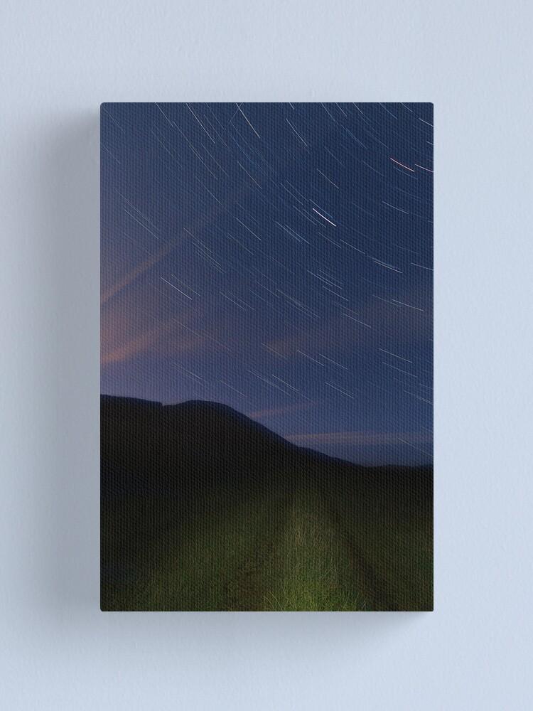 Alternate view of Campsie Star Trails (2) Canvas Print