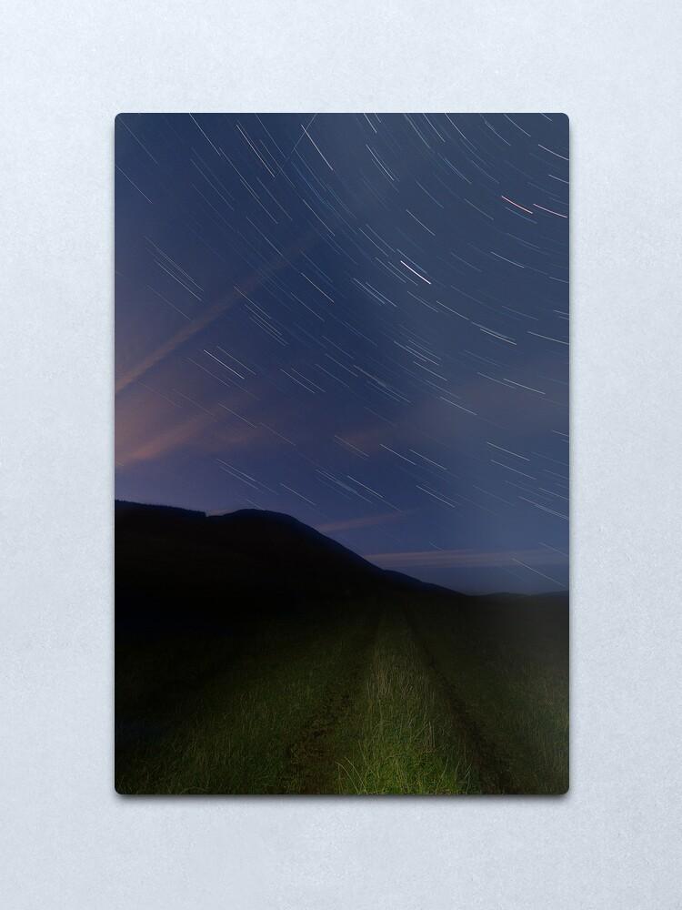 Alternate view of Campsie Star Trails (2) Metal Print