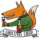 Christmas Cheer Fox by QueenHare