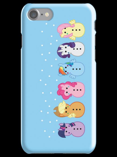 Snowponies iPhone case by Rachael Thomas