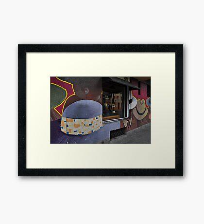 Sombrero Shop, Santiago Framed Print