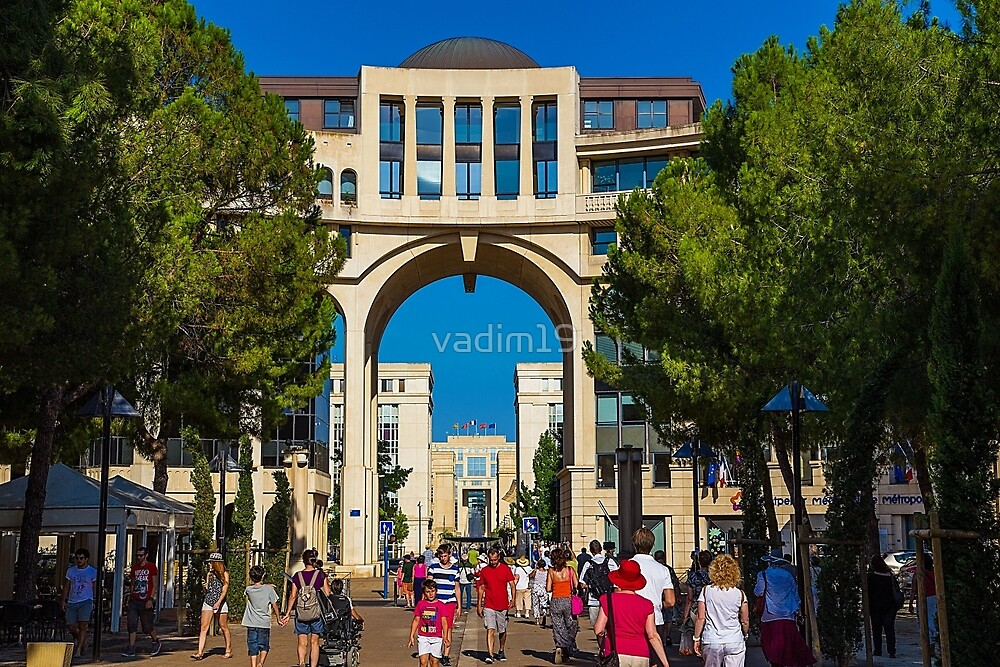 France. Montpellier. Modern Architecture. by vadim19