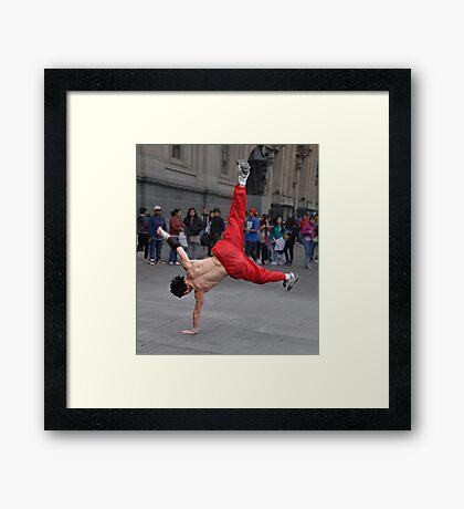 Street Acrobat Framed Print