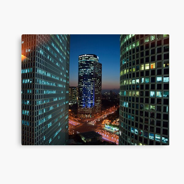 Tel Aviv buildings at night Canvas Print