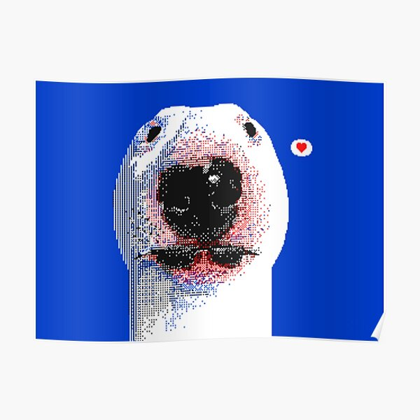 PUPPERNELSON WHITE BLUE EDITION Poster