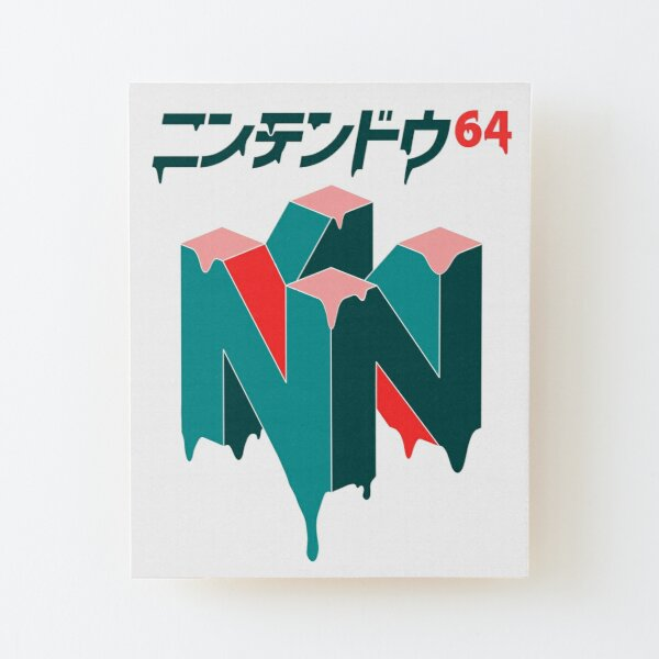 Japanese Driptendo 64 Wood Mounted Print