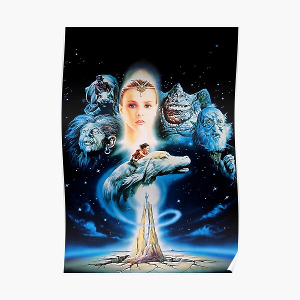 The NeverEnding Story 1980s 80s Retro Vintage Film Luck Dragon Atreyu Poster
