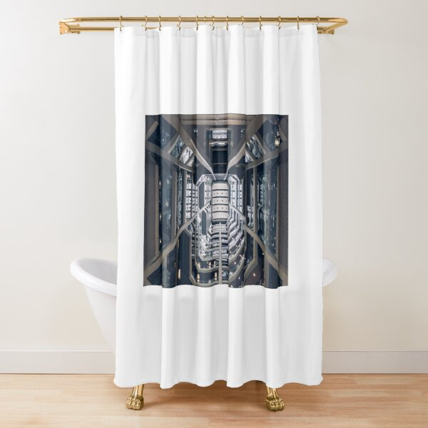 Building Lobby Shower Curtain