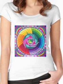 Sirius dolpin color scheme 1 Women's Fitted Scoop T-Shirt