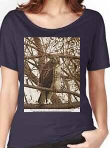 Red-Tailed Hawk as wise as Owl Women's Relaxed Fit T-Shirt