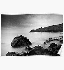 Serene and mystical Black and White Seascape Poster