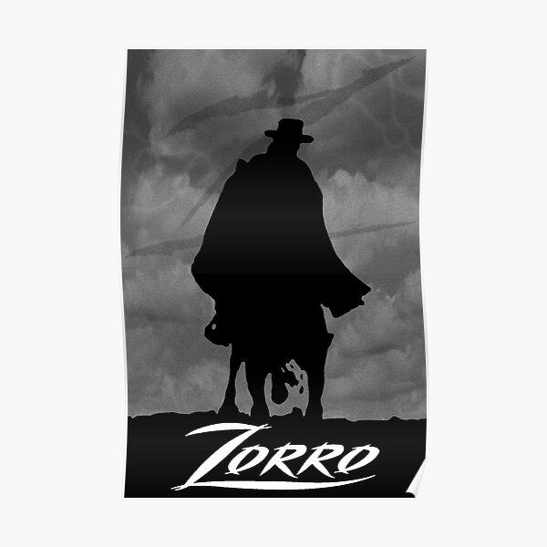 Zorro silhouette Poster
