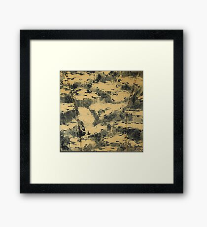 Water Camouflage Framed Print