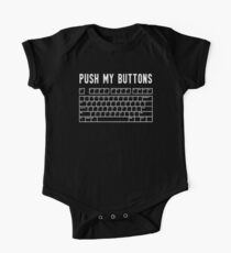 Push My Buttons Funny Keyboard Boobs Kids Clothes