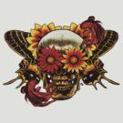 Skull In Bloom. by James Fosdike