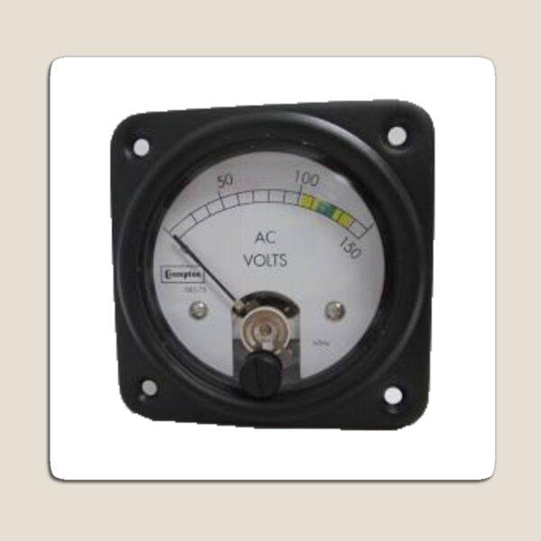 #Ancient #Voltmeter, #Gauge, #Dial, AC, Volts, technology, electricity, ampere, equipment, control, instrument Magnet