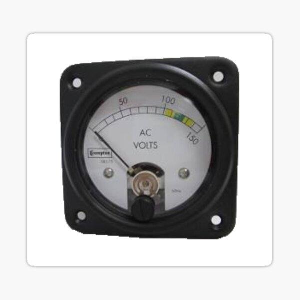 #Ancient #Voltmeter, #Gauge, #Dial, AC, Volts, technology, electricity, ampere, equipment, control, instrument Sticker
