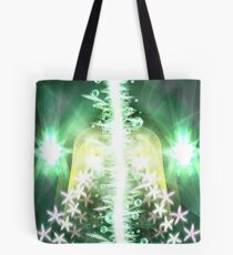 Two-Faced Green-Eyed Jealousy Tote Bag