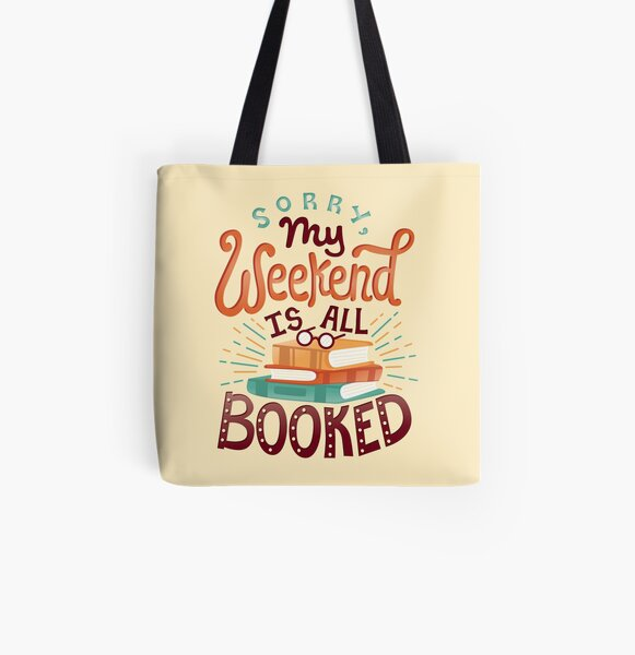 I'm booked All Over Print Tote Bag