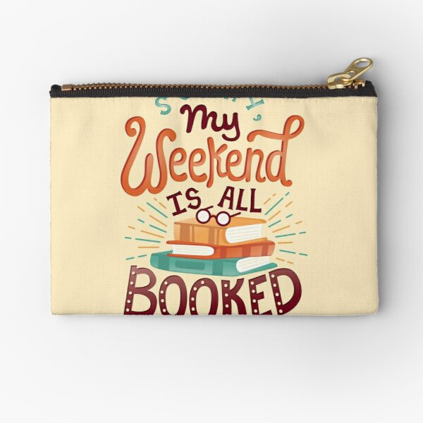 I'm booked Zipper Pouch