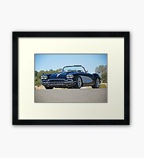 1958 Corvette Roadster 'On Location' II Framed Print