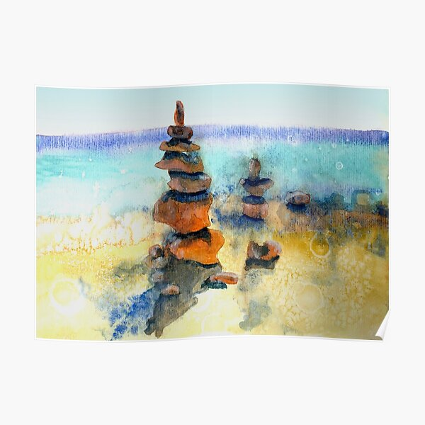 Sublime Coastal Cairn  Poster