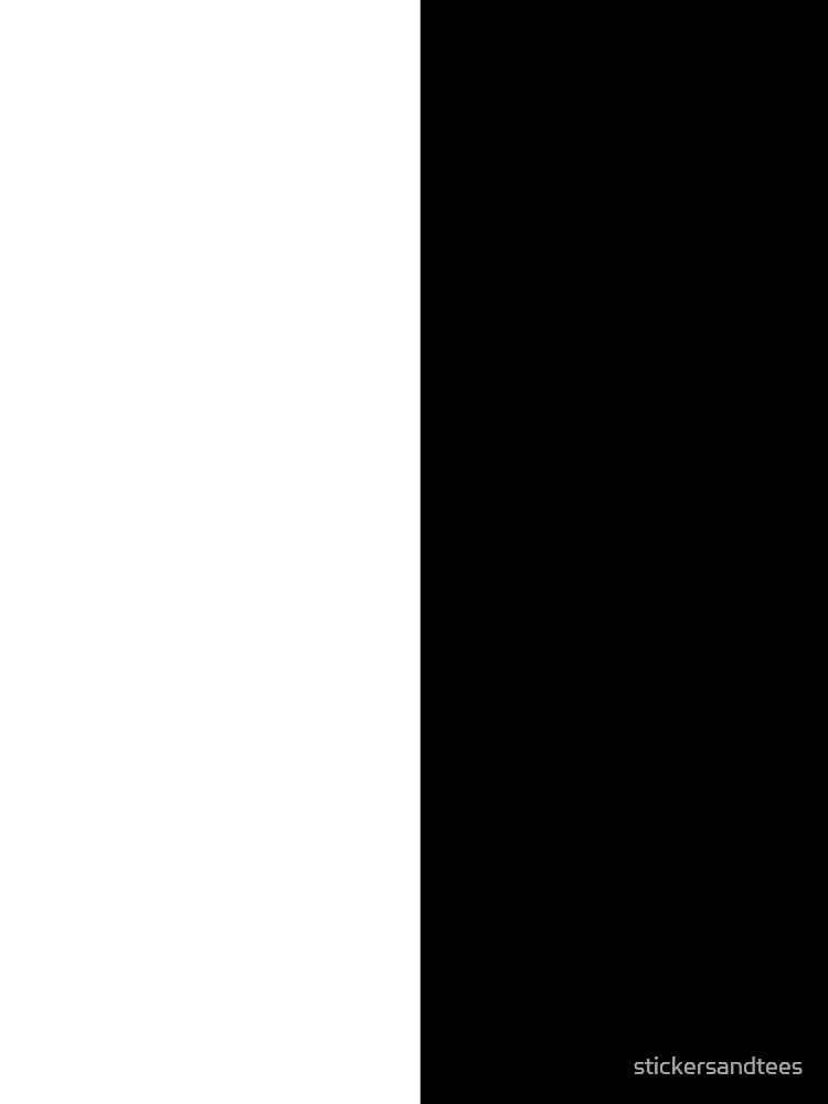 Half Black Half White Leggings by stickersandtees