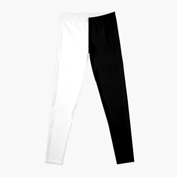 Half Black Half White Leggings Leggings