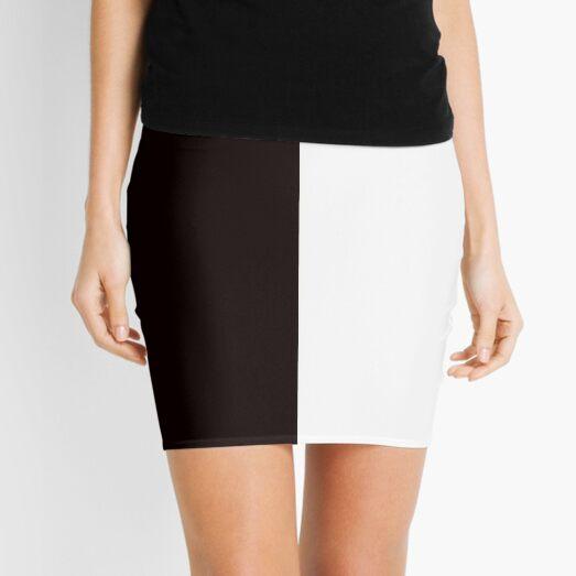 Half Black Half White Mini Skirt Mini Skirt