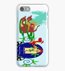 "Christmas Dragon Message for the Season  ""Bah Humbug"" :_ I Phone Case iPhone Case/Skin"