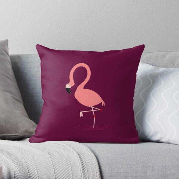 Pretty Flamingo Purple Throw Pillow
