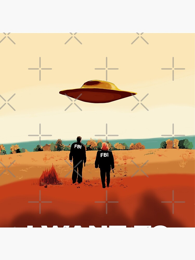 The X Files I want to believe FBI poster  by MimieTrouvetou