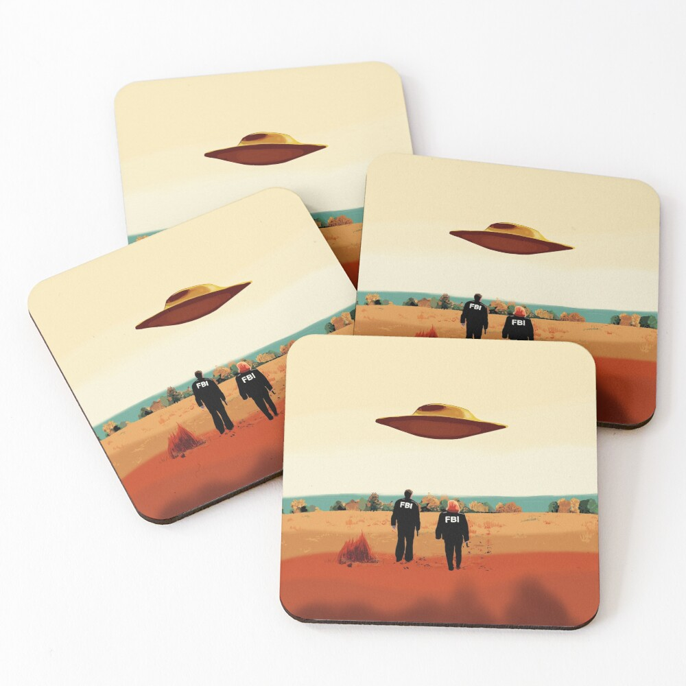 The X Files I want to believe FBI poster  Coasters (Set of 4)