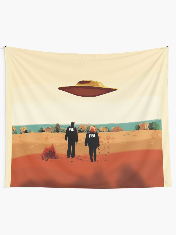 Alternate view of The X Files I want to believe FBI poster  Tapestry