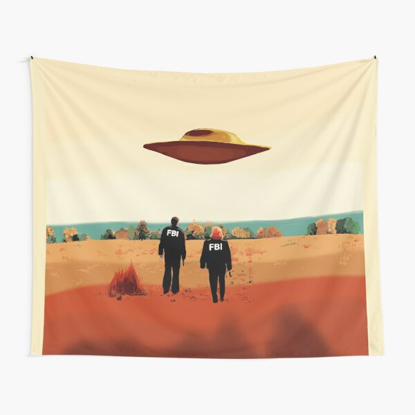 The X Files I want to believe FBI poster  Tapestry