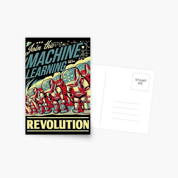 Join The Machine Learning Revolution Postcard